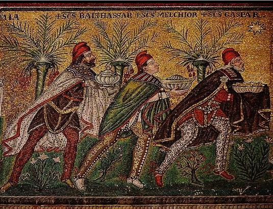 TREI MAGI DE LA RASARIT - Mausoleum Galla Placidia, Ravena