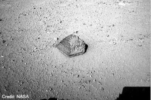 Pyramid Shaped Rock On Mars
