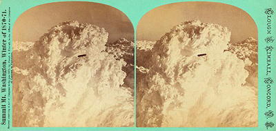 UFO in Clouds Over Mount Washington Circa 1870-71