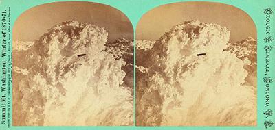 UFO in Clouds Over Mount Washington Circa 1870-71
